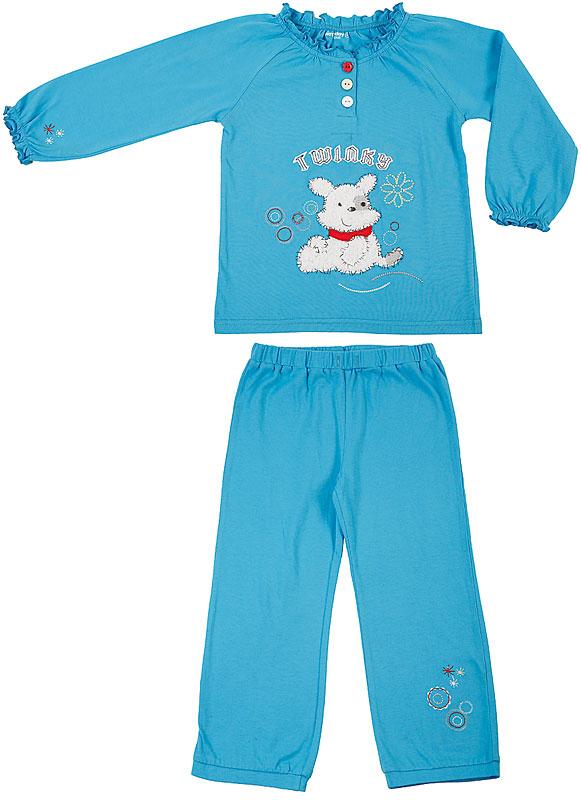Комплект: футболка, брюки для дев. 30606