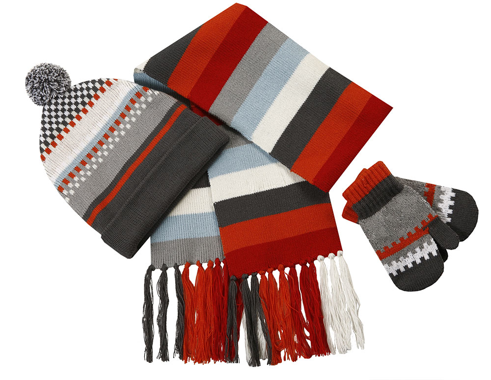 Комплект: шапка, шарф, варежки для мал. 307025