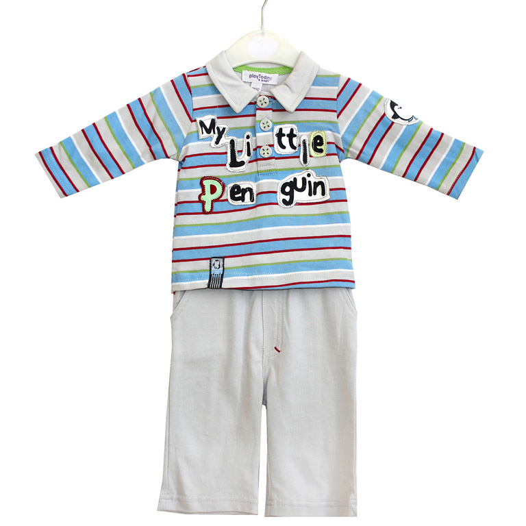 Комплект: футболка длинный рукав, брюки 307041