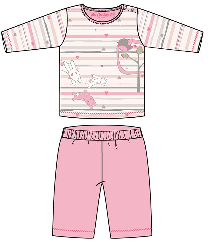 Комплект: футболка, брюки для дев. 308023