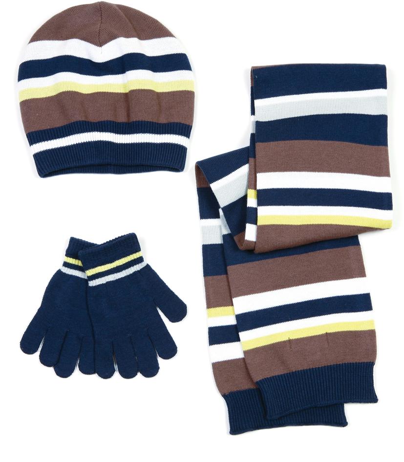 Комплект: шапка, перчатки, шарф 311030