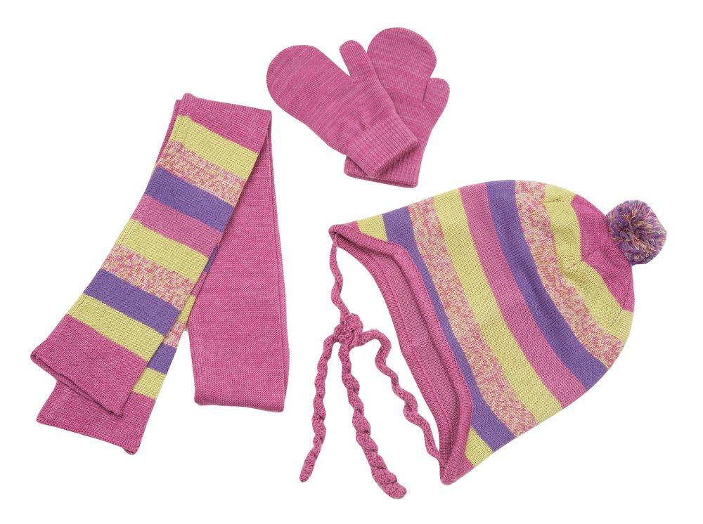 Комплект: шапка, варежки, шарф 312027