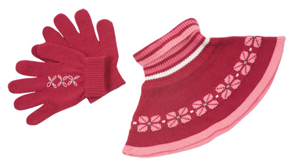 Комплект: перчатки, шарф 312075