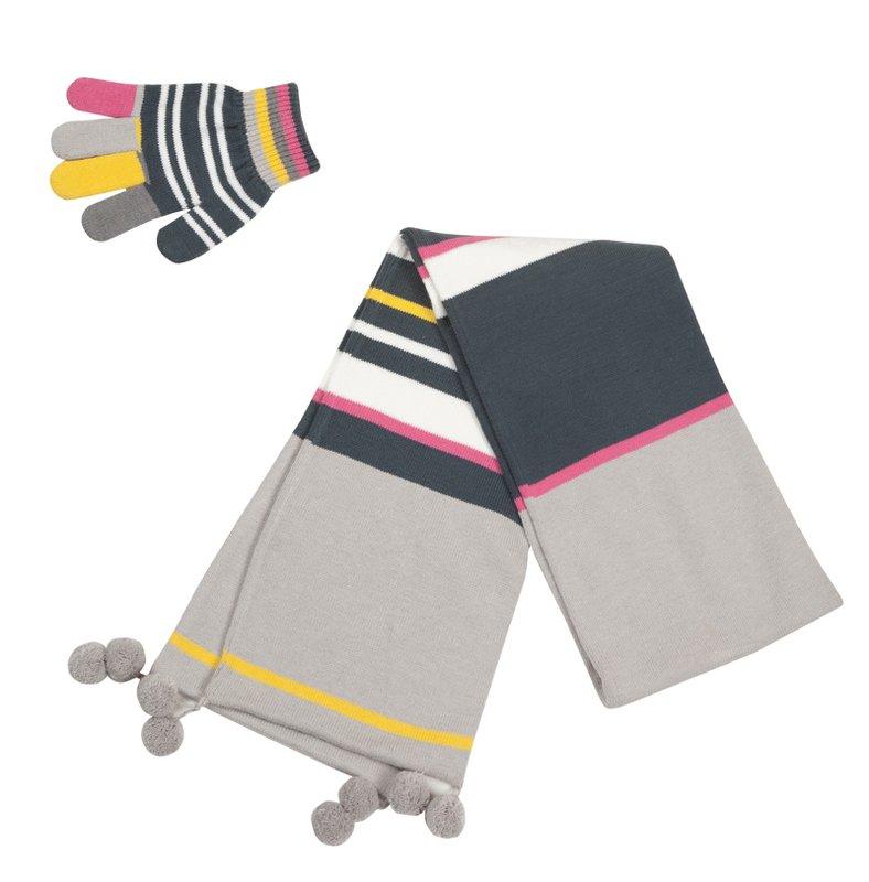 Комплект: перчатки, шарф 312115