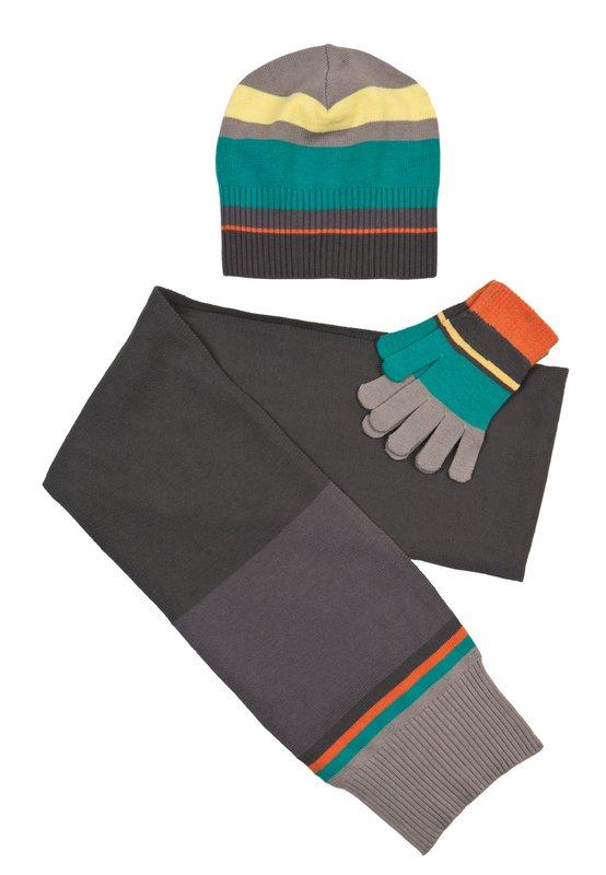 Комплект: шапка, перчатки, шарф 313003