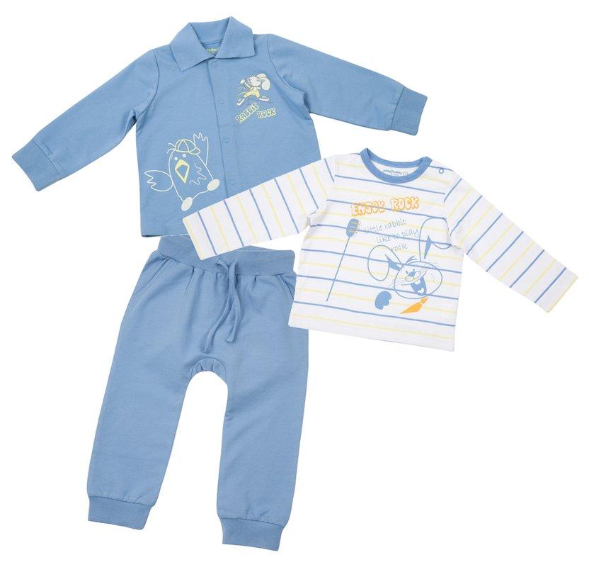 Комплект: боди, кофта, брюки / футболка с длинным рукавом, кофта, брюки 317052
