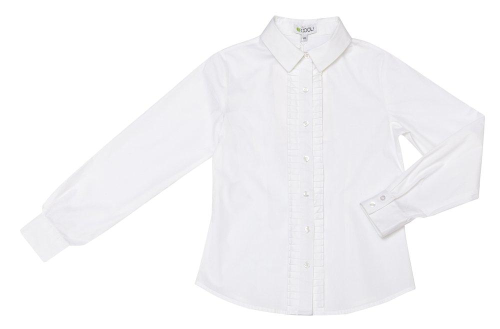 Блузка текстильная для девочек  белая 324033