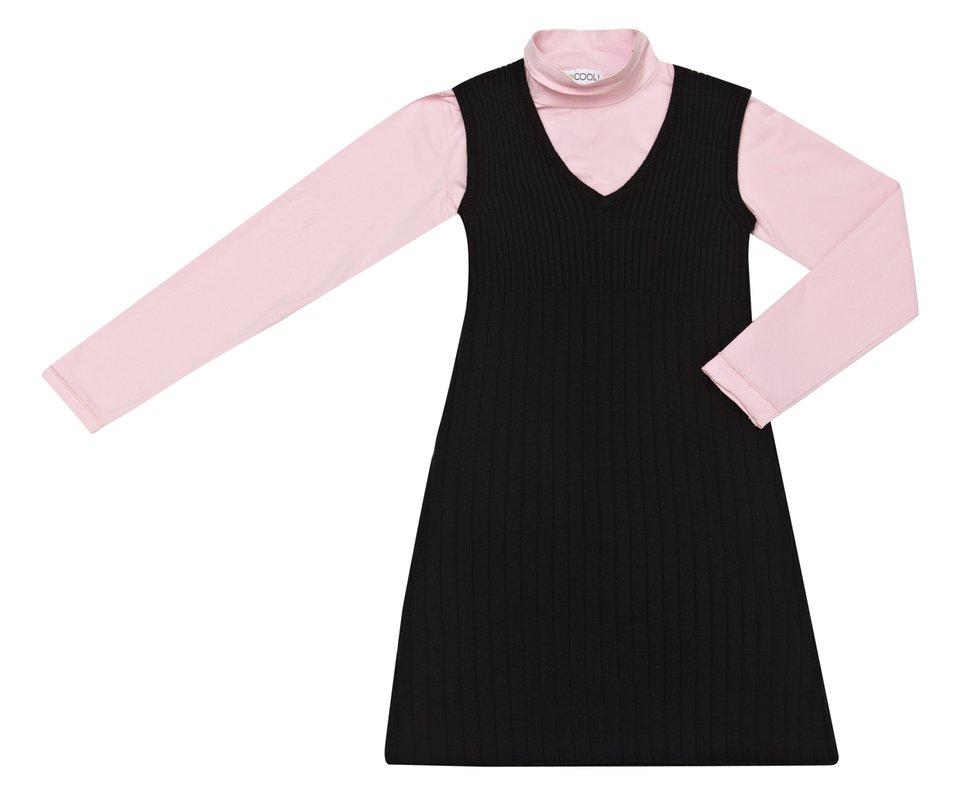 Комплект: водолазка, платье 324059