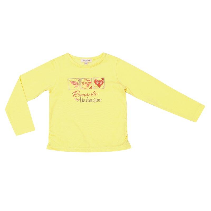 Фуфайка трикотажная для девочек (футболка с длинными рукавами) 332028
