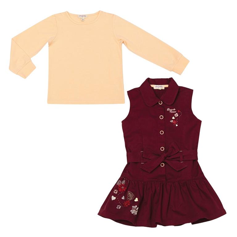 Комплект: сарафан, футболка с длинными рукавами 332033