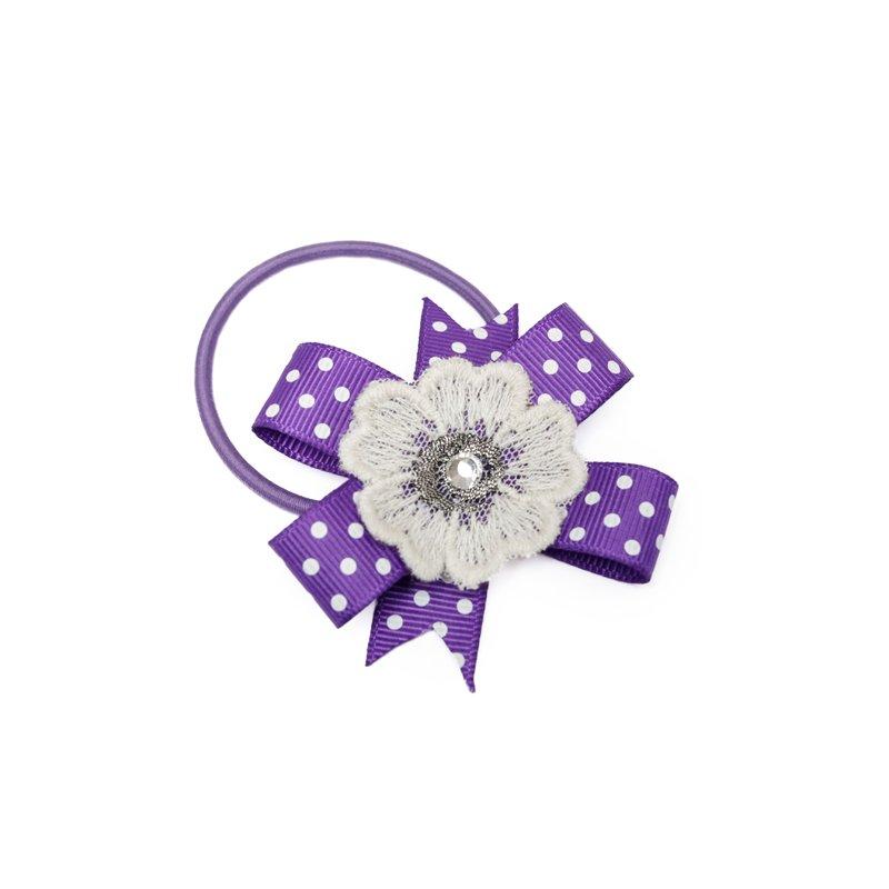 Резинка для волос для девочек (фиолетовая) 332188