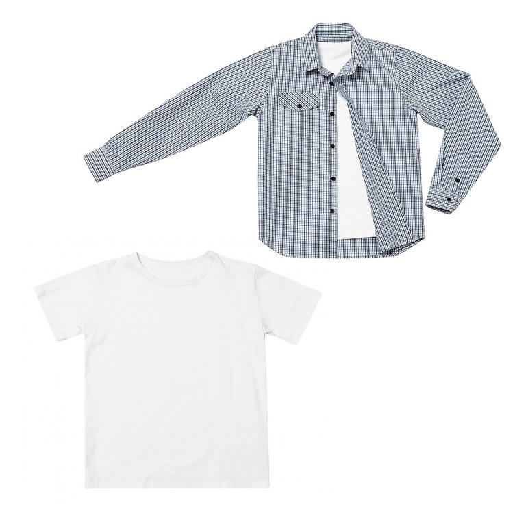 Комплект: сорочка, футболка 333014