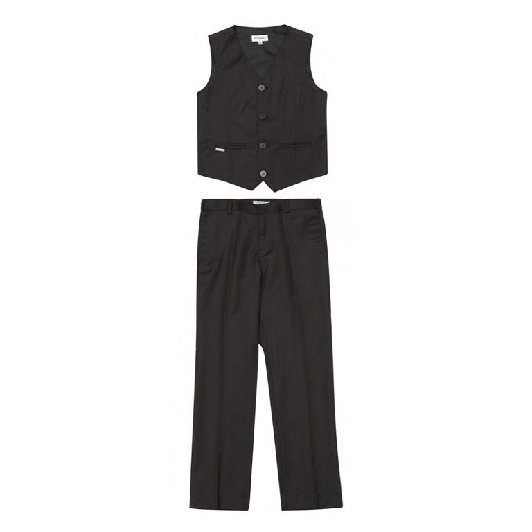 Комплект: жилет, брюки  (темно-серый) 333043