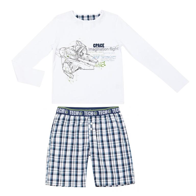 Пижама: футболка с длинными рукавами, шорты 333094