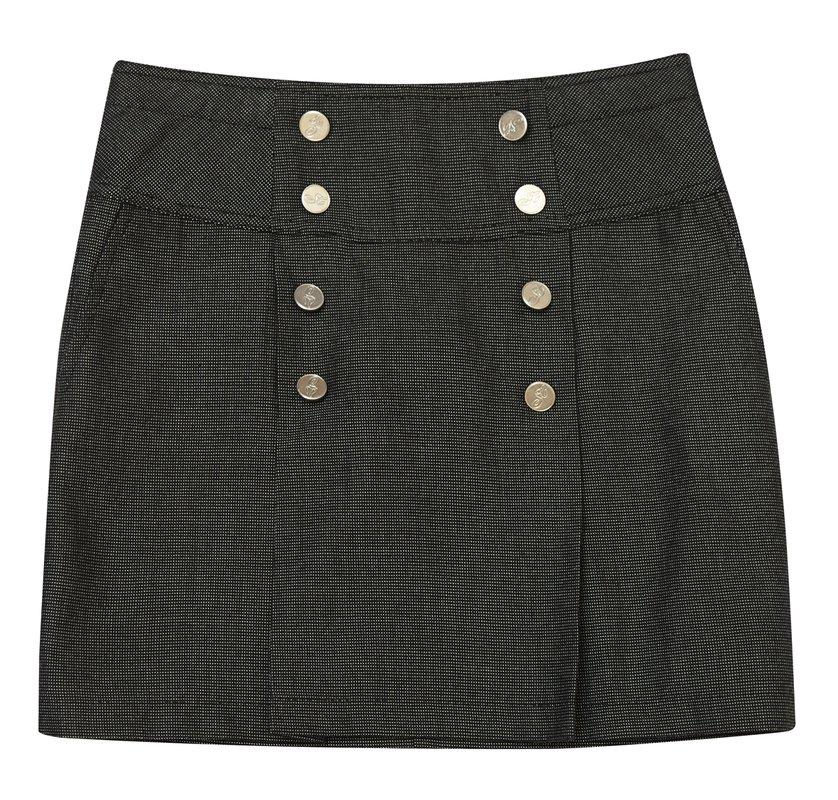 Комплект: юбка, жилет  темно-серый 334006