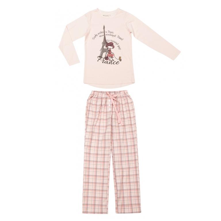 Пижама: футболка с длинными рукавами, брюки 334111