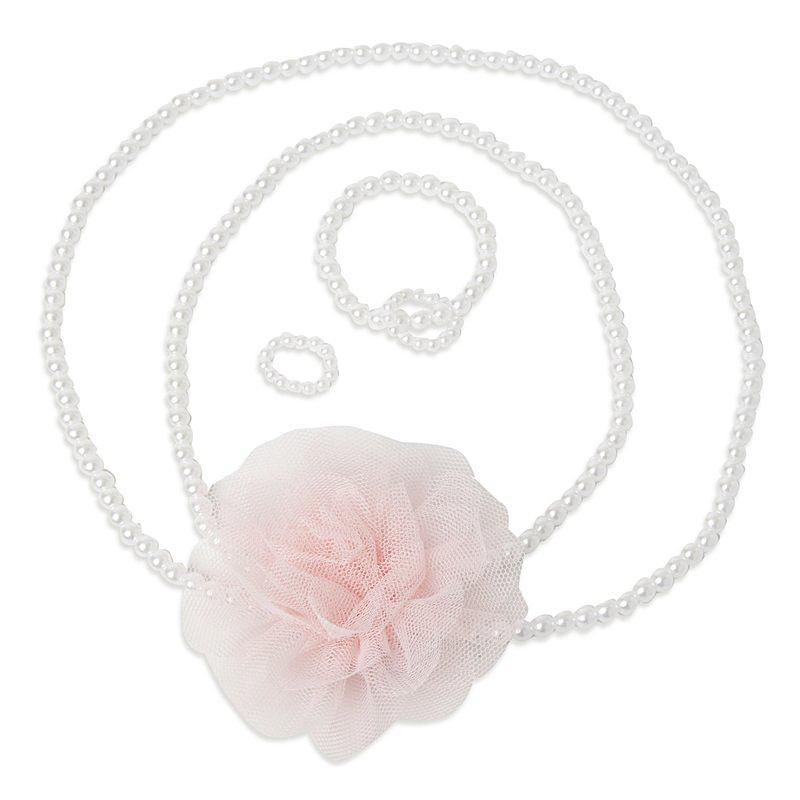 Комплект аксесуаров: бусы, браслет, кольцо 342709