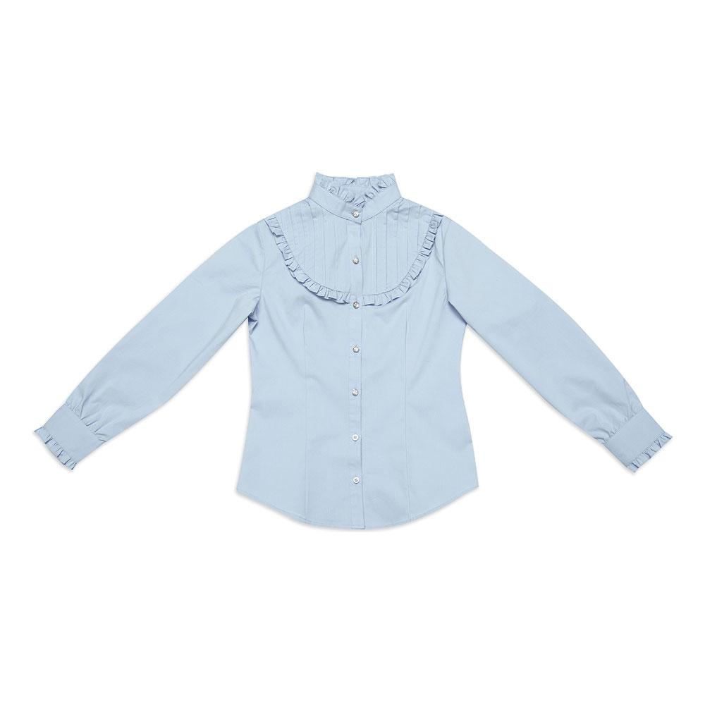 Блузка текстильная для девочек  голубая 344021