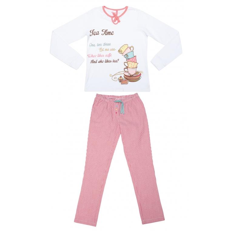 Комплект :футболка с длинным рукавом, брюки 344050