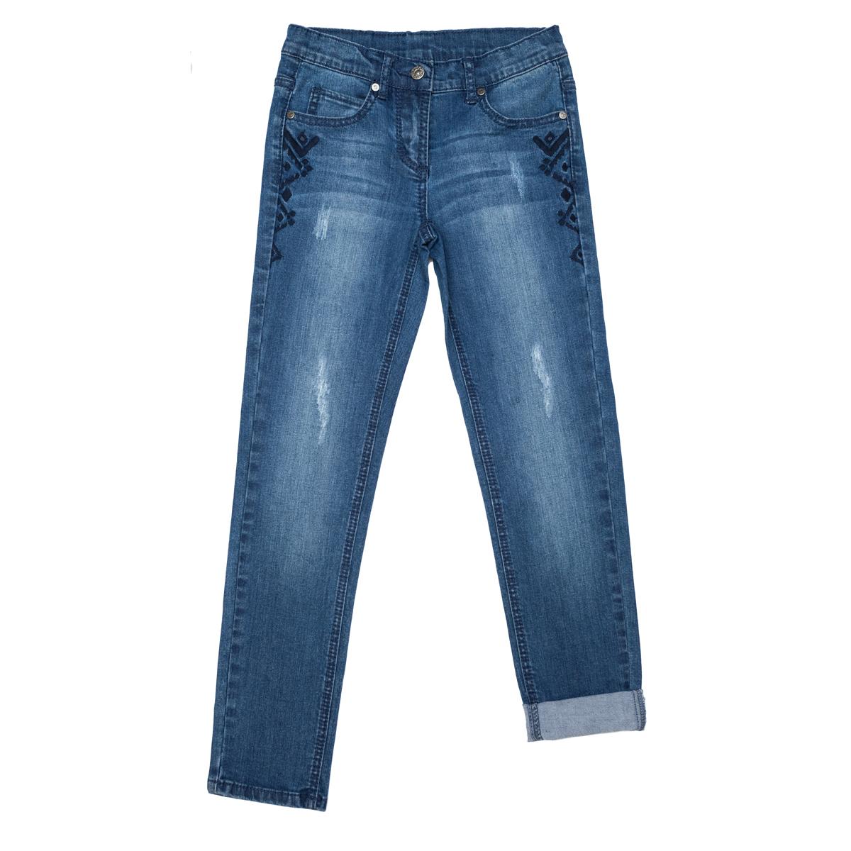 Брюки текстильные джинсовые 344083