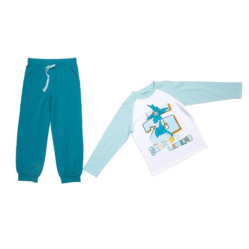 Комплект : футболка с длинным рукавом, брюки 345016