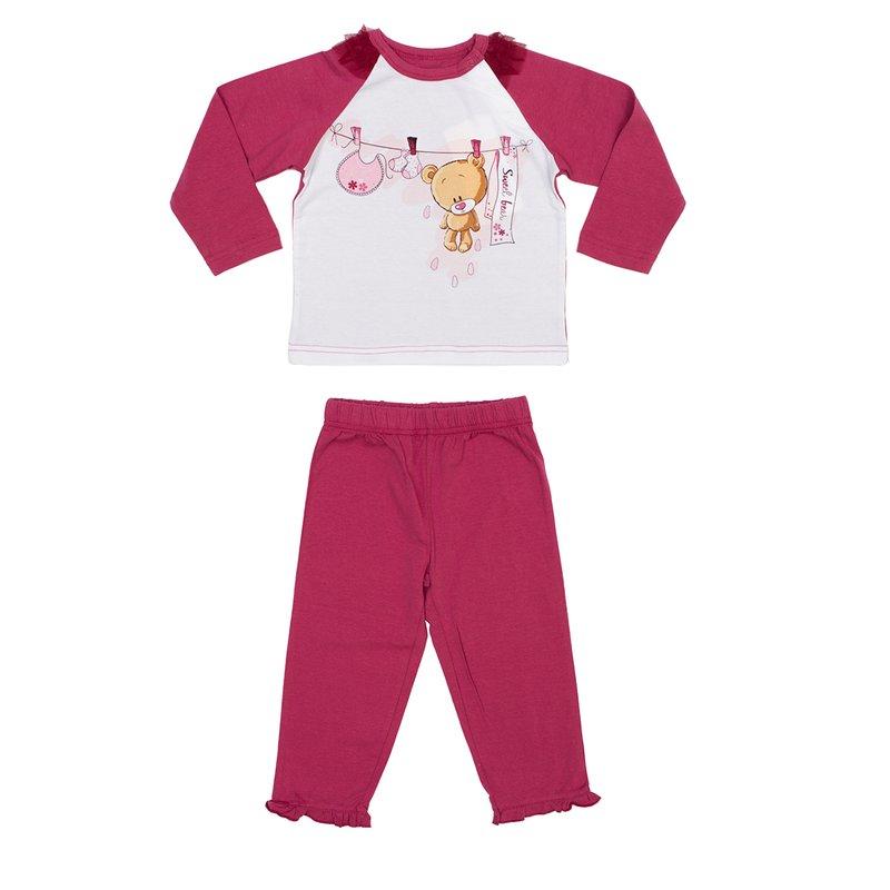 Комплект  : футболка с длинным рукавом, брюки 348027