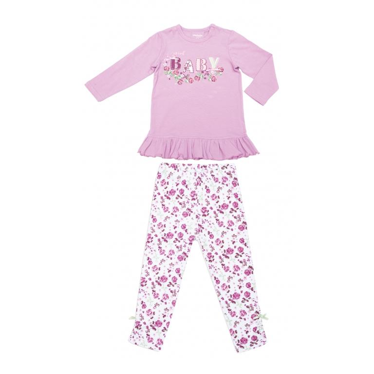 Комплект  : футболка с длинным рукавом, брюки (леггинсы) 348072