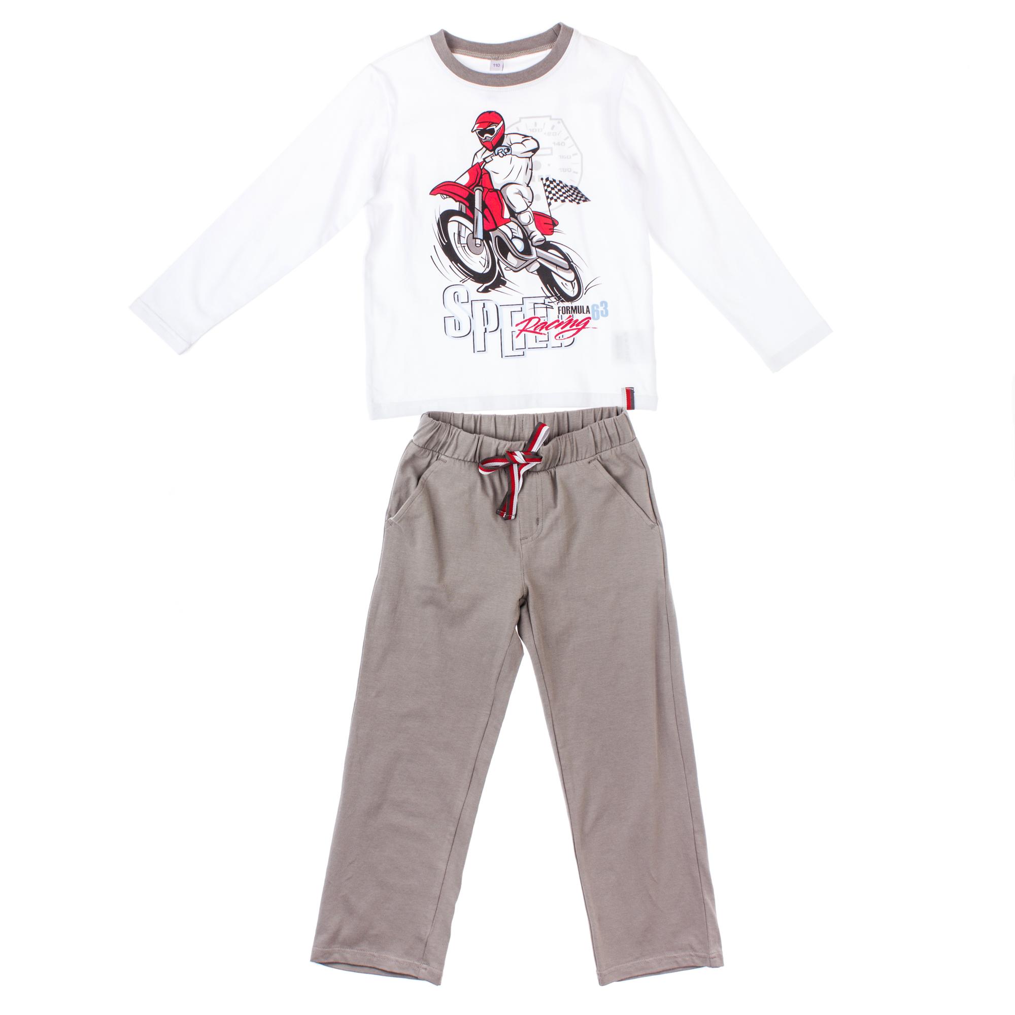 Комплект футболка с дл.рукавом, брюки 351027
