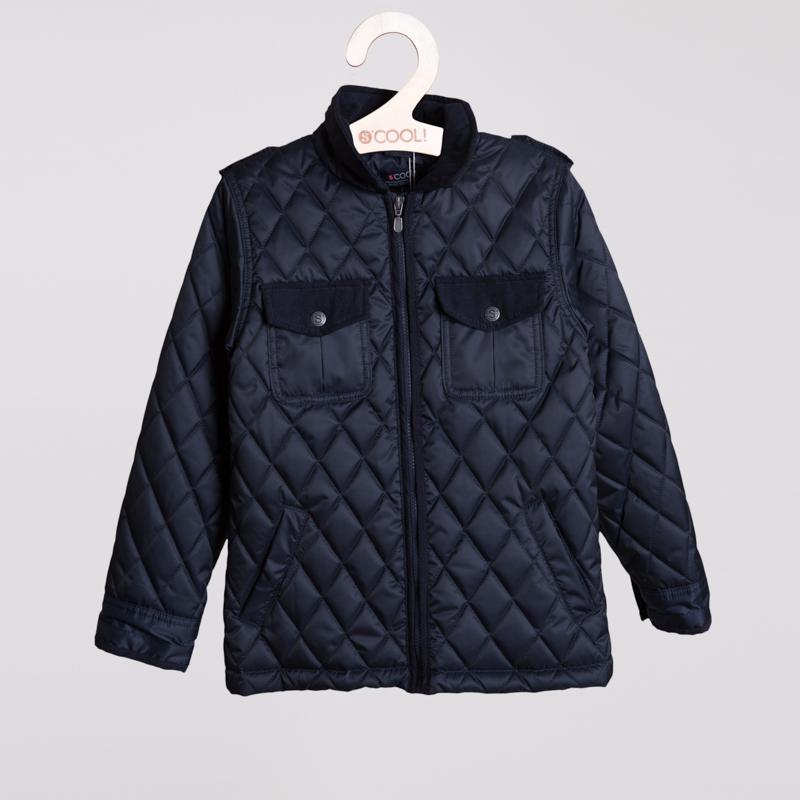 Куртка текстильная для мальчиков  темно-синяя 353001