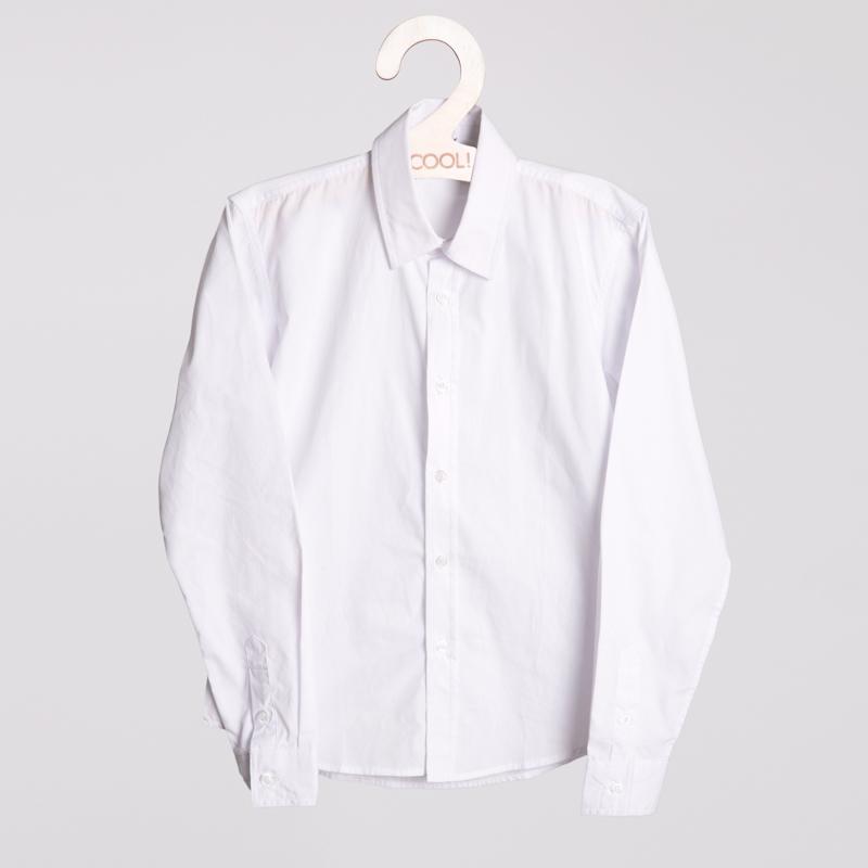 Сорочка текстильная для мальчиков  белая 353009