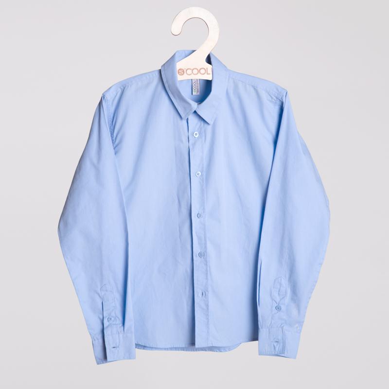 Сорочка текстильная для мальчиков  голубая 353010