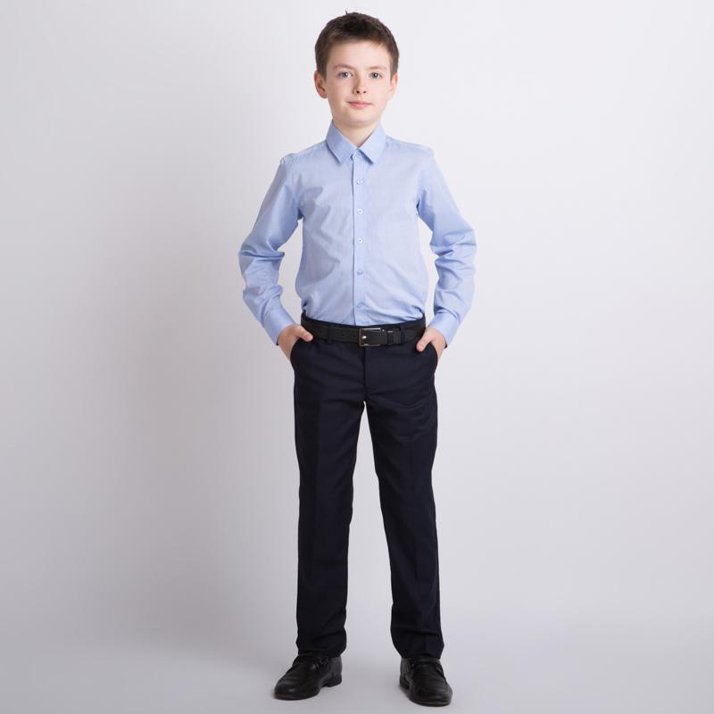 Сорочка текстильная для мальчиков  голубая 353011