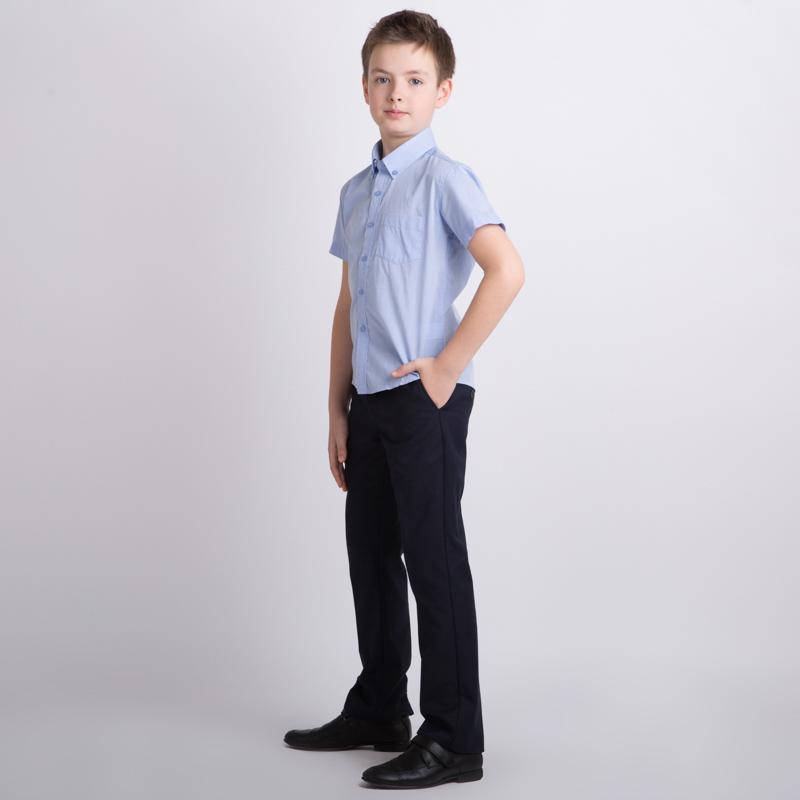 Сорочка текстильная для мальчиков  голубая 353014