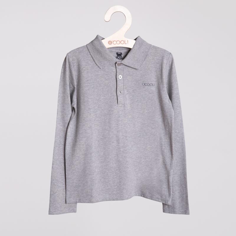 Фуфайка трикотажная для мальчиков (футболка с длинным ркавом)  серая 353015