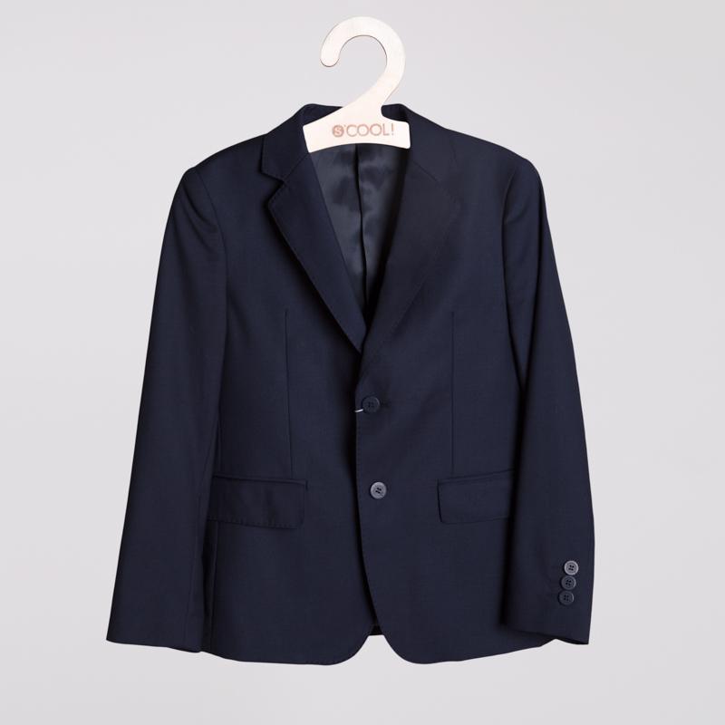 Пиджак текстильный для мальчиков  темно-синий 353025