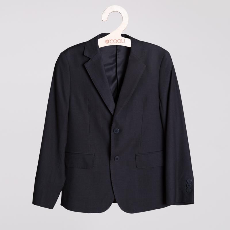 Пиджак текстильный для мальчиков  темно-серый 353026