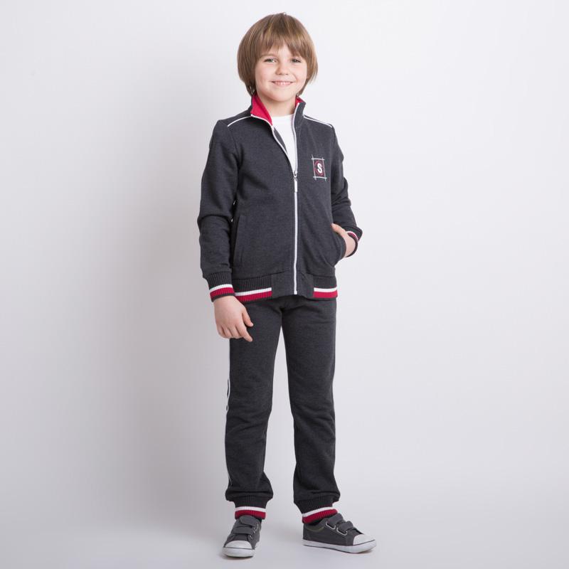 Комплект трикотажный для мальчиков: толстовка, брюки (серый) 353030