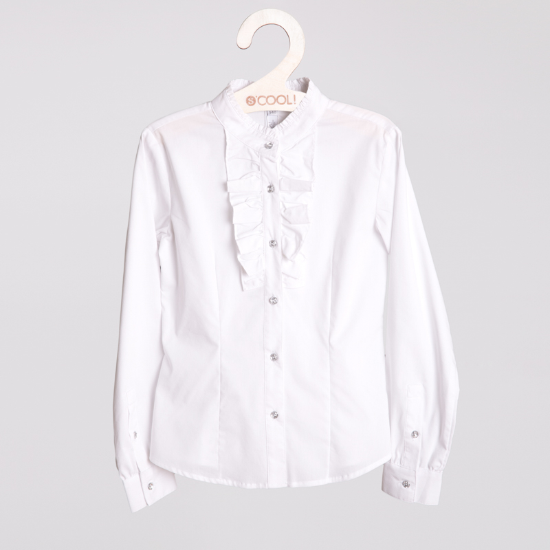 Блузка текстильная для девочек  белая 354013