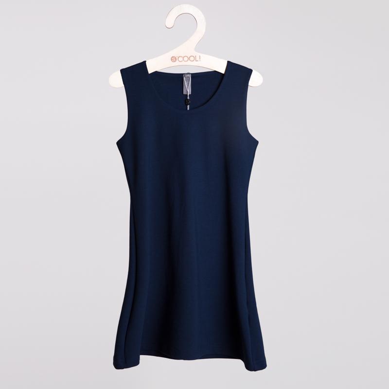 Сарафан текстильный для девочек  темно-синий 354021