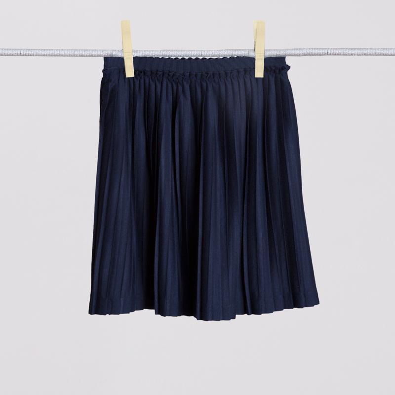 Юбка трикотажная для девочек  темно-синяя 354023