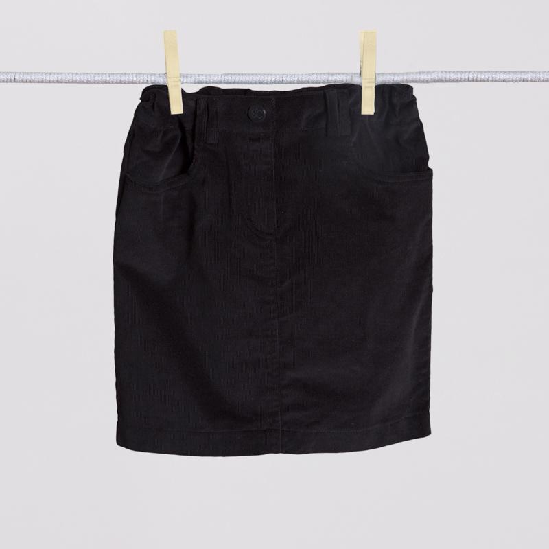 Юбка текстильная для девочек  черная 354024
