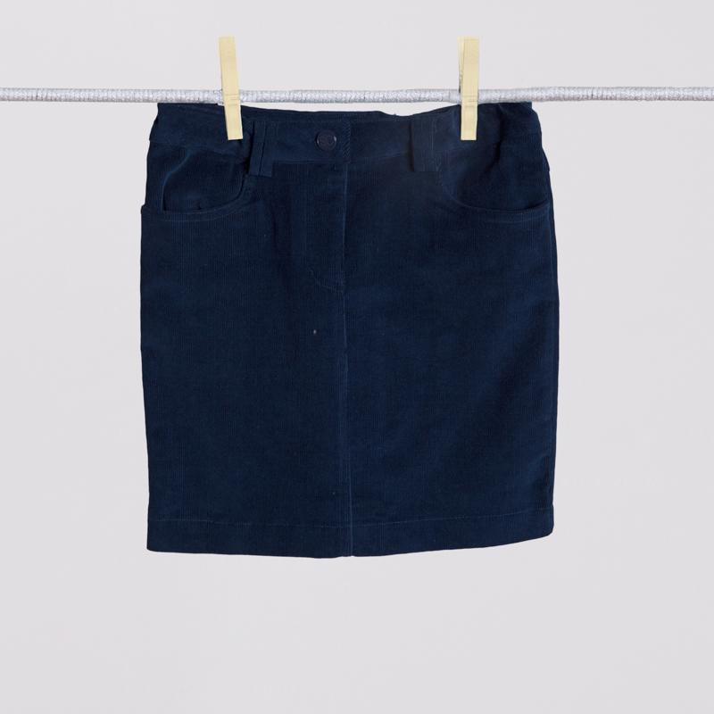 Юбка текстильная для девочек  темно-синяя 354025