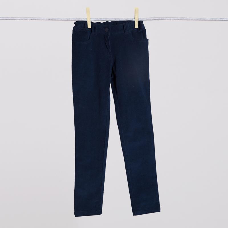 Брюки текстильные для девочек  синие 354026