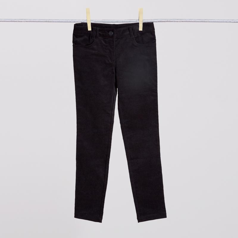 Брюки текстильные для девочек  черные 354027