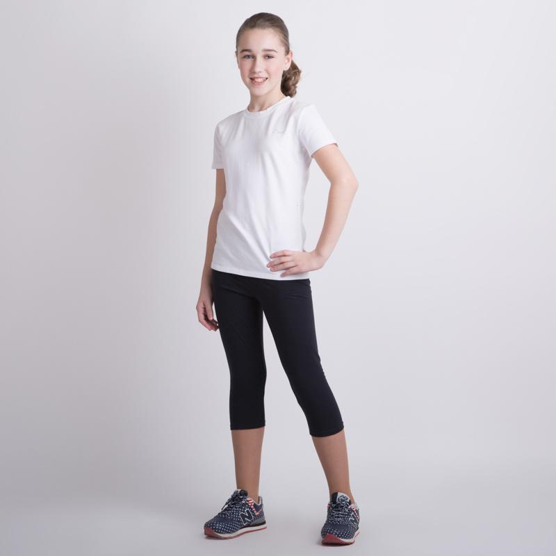 Комплект трикотажный для девочек: фуфайка (футболка), бриджи 354031