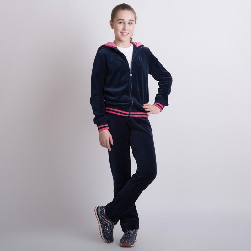 Комплект трикотажный для девочек: толстовка, брюки 354032