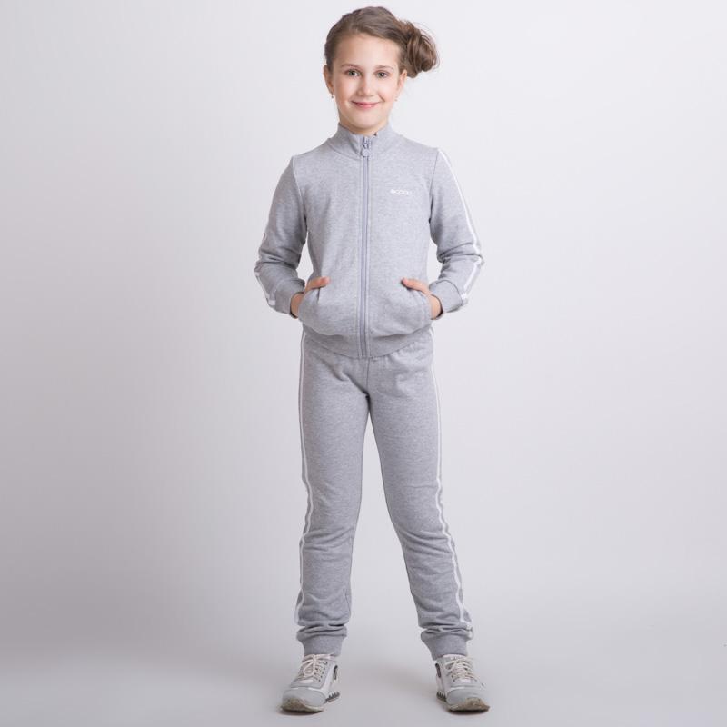 Комплект трикотажный для девочек: толстовка, брюки 354086