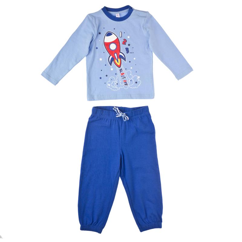 Комплект футболка с дл.рукавом, брюки 357055