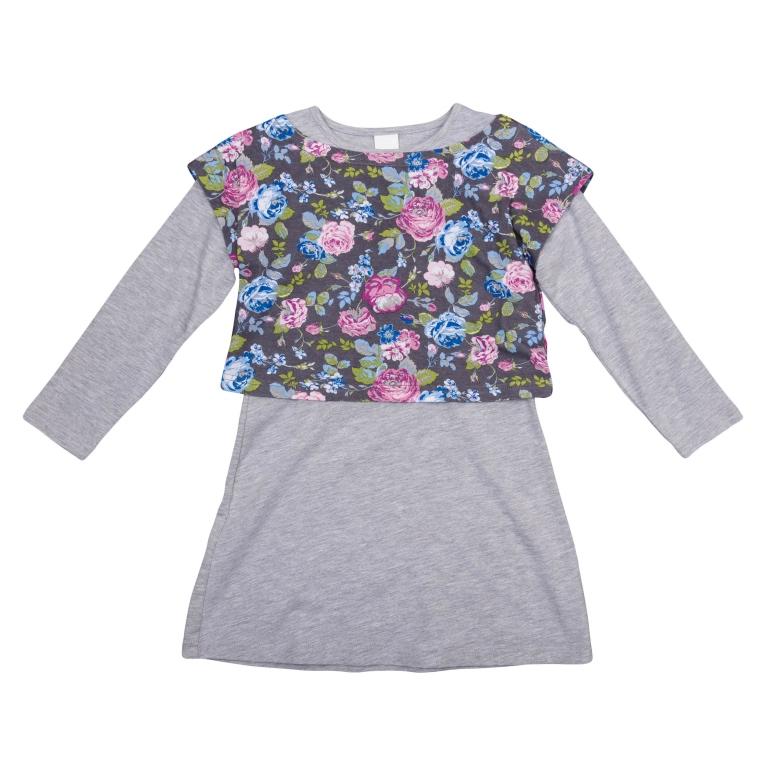 Комплект: сарафан, футболка с длинным рукавом 362072