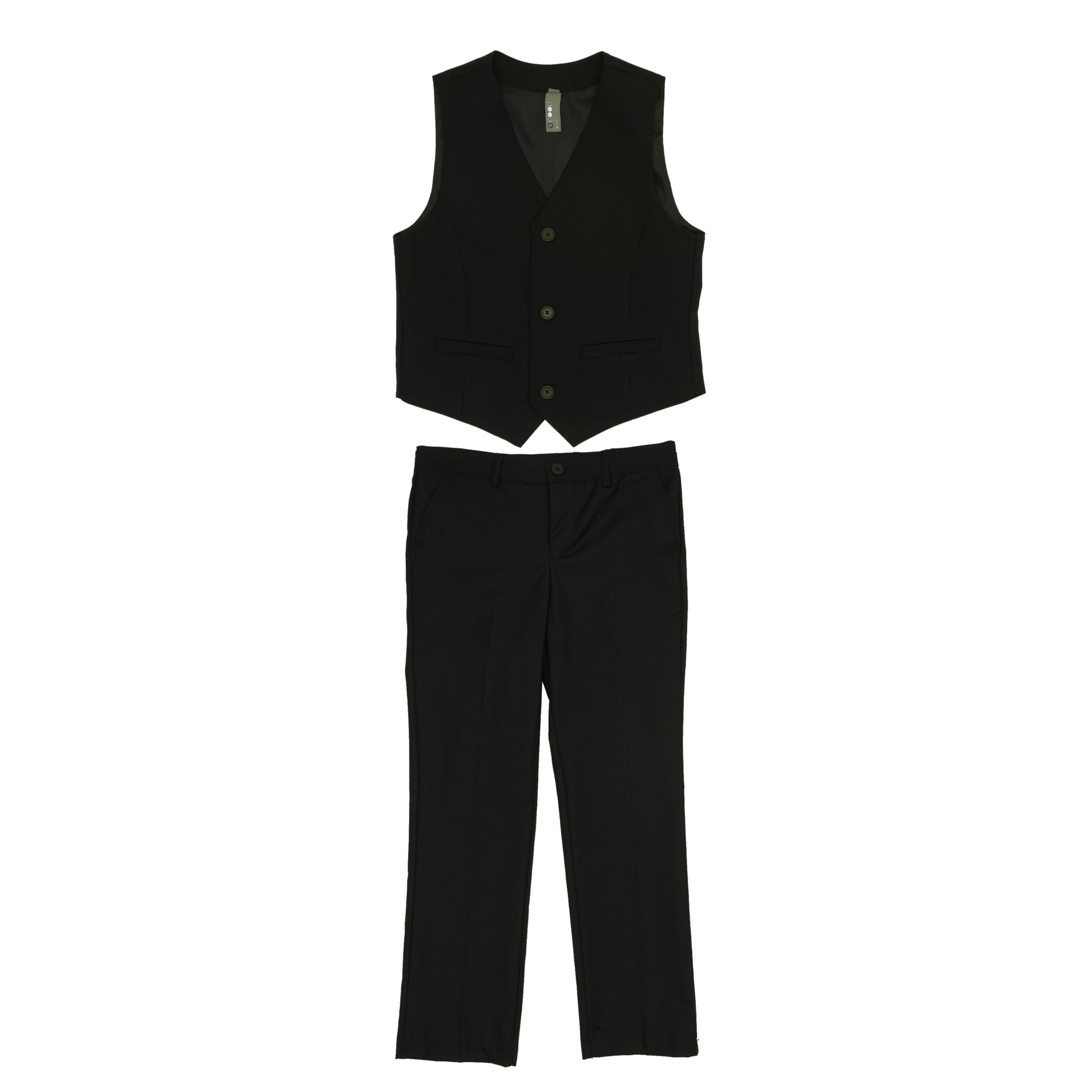 Комплект: брюки, жилет ( черный) 363025